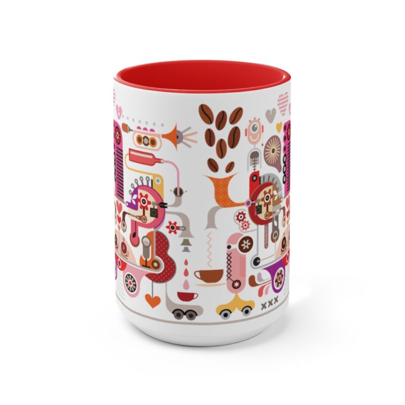 Coffee Shop Abstract Modern Art Accent Mug 9