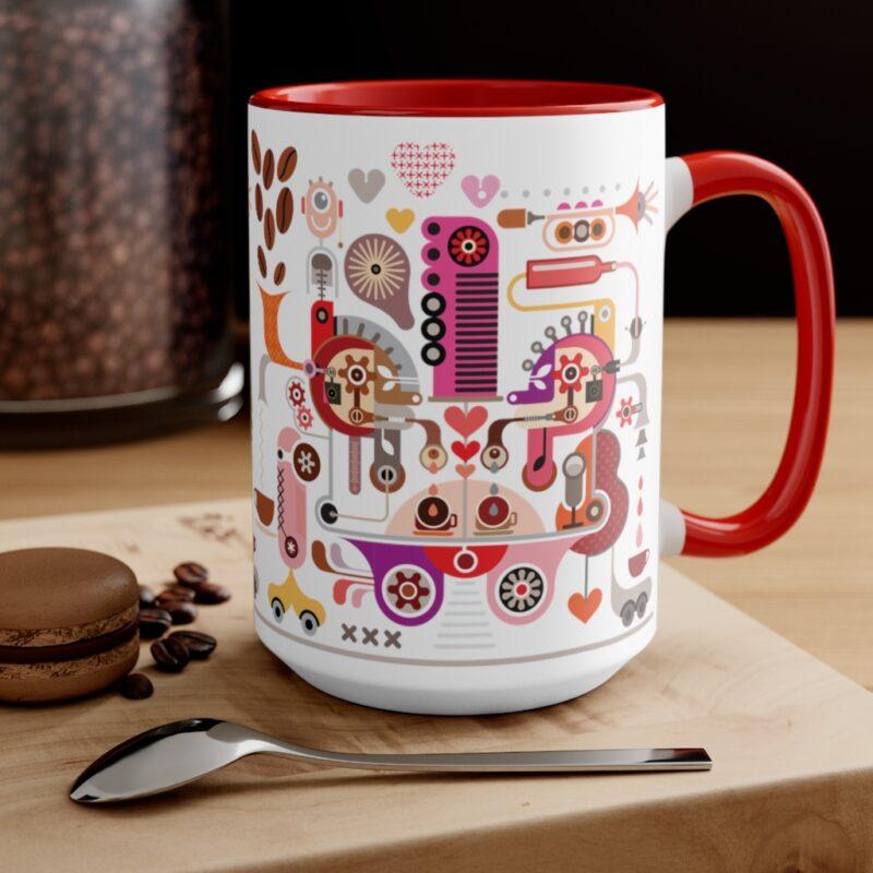 Coffee Shop Abstract Modern Art Accent Mug 12