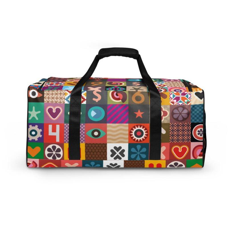 Colorful Motifs Maximalism Duffle bag 1