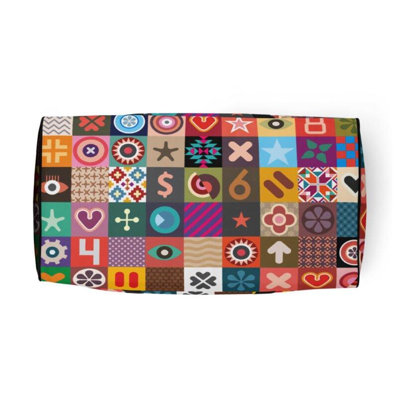 Colorful Motifs Maximalism Duffle bag 8