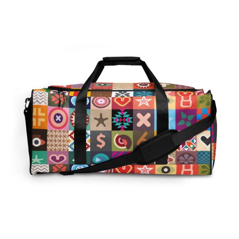 Colorful Motifs Maximalism Duffle bag 2