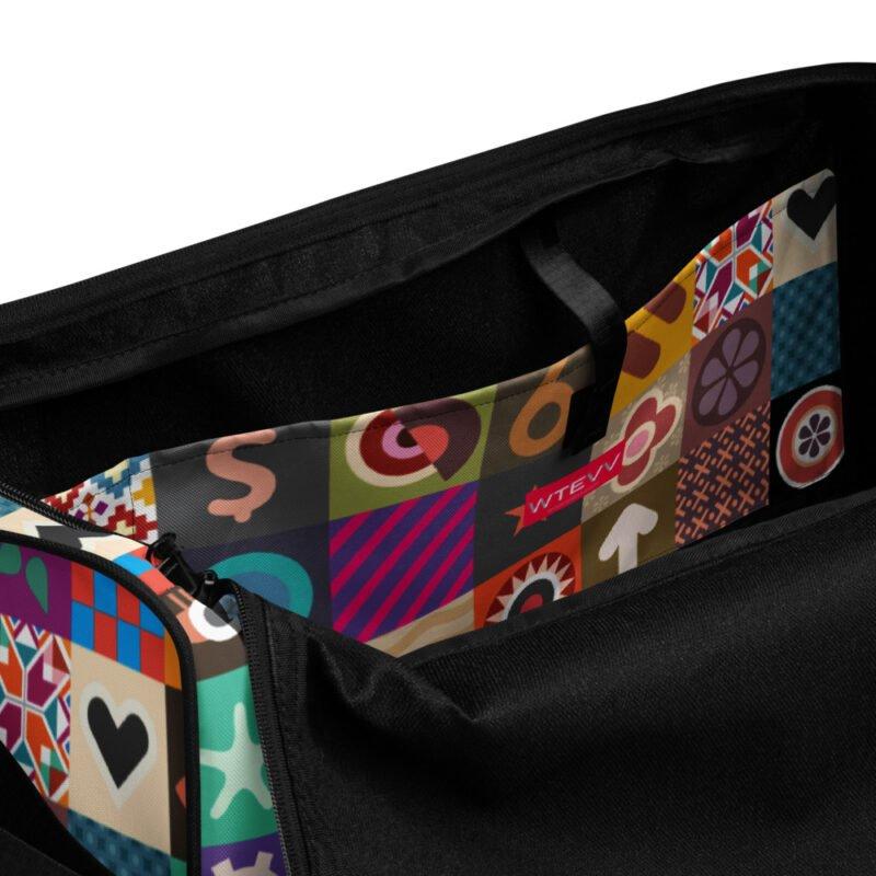 Colorful Motifs Maximalism Duffle bag 9