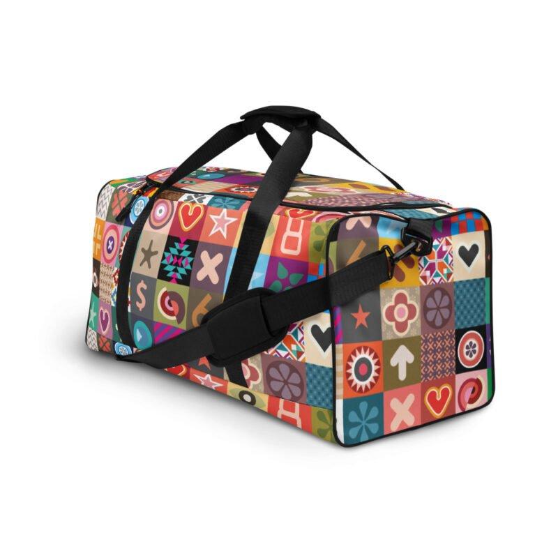 Colorful Motifs Maximalism Duffle bag 4