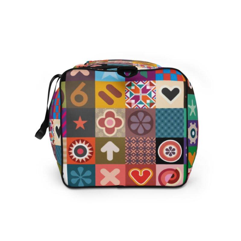 Colorful Motifs Maximalism Duffle bag 6