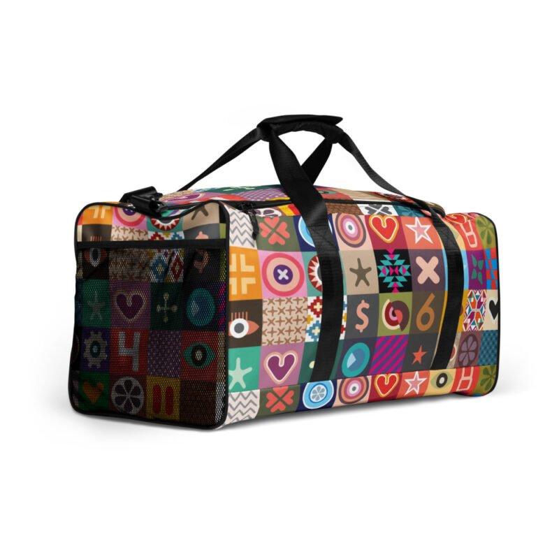 Colorful Motifs Maximalism Duffle bag 3