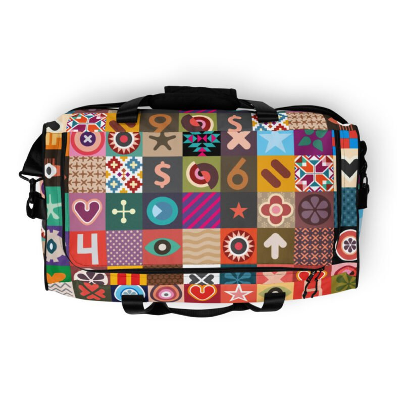 Colorful Motifs Maximalism Duffle bag 7