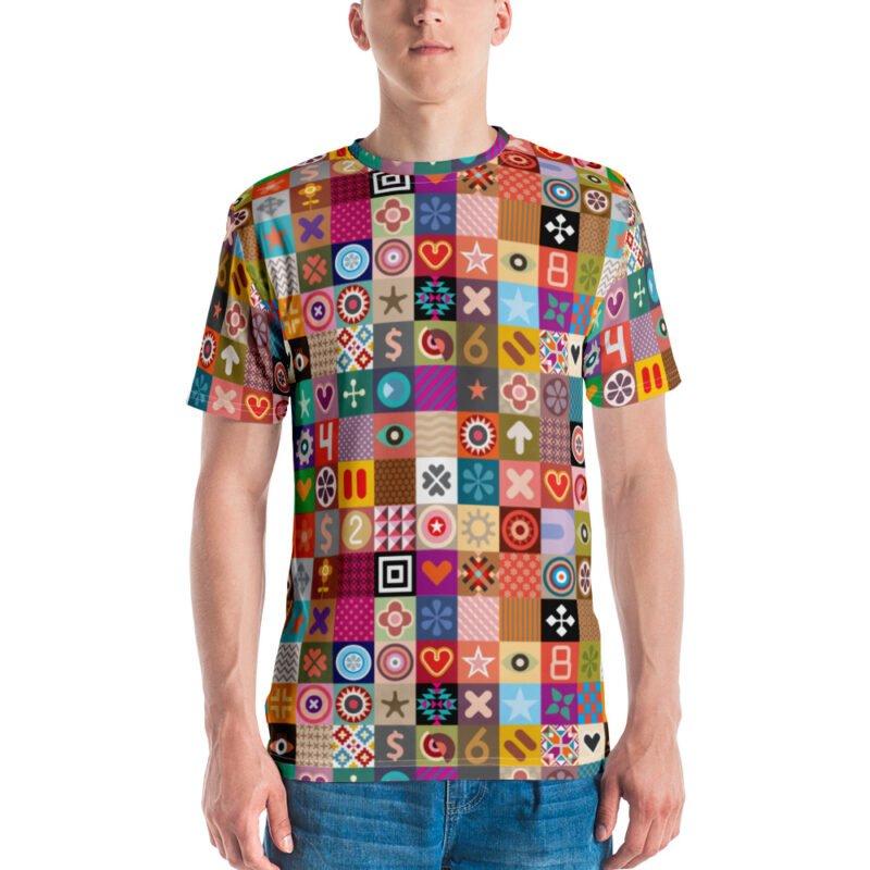 Colorful Motifs Maximalism Men's T-shirt 1