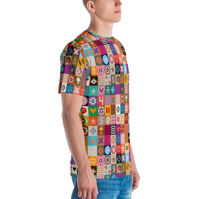 Colorful Motifs Maximalism Men's T-shirt 3