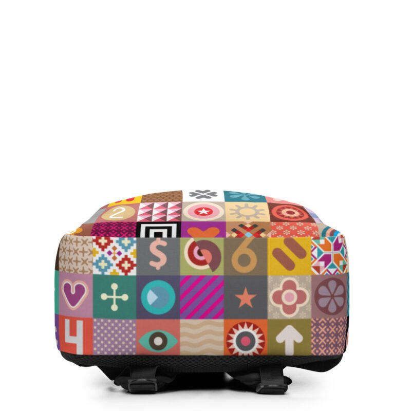 Colorful Motifs Maximalism Backpack 5