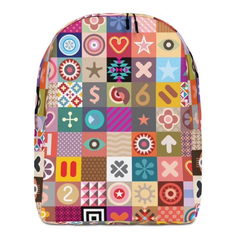 Colorful Motifs Maximalism Backpack 1