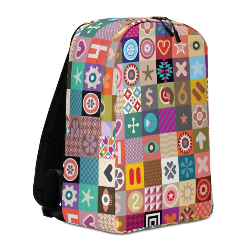 Colorful Motifs Maximalism Backpack 3