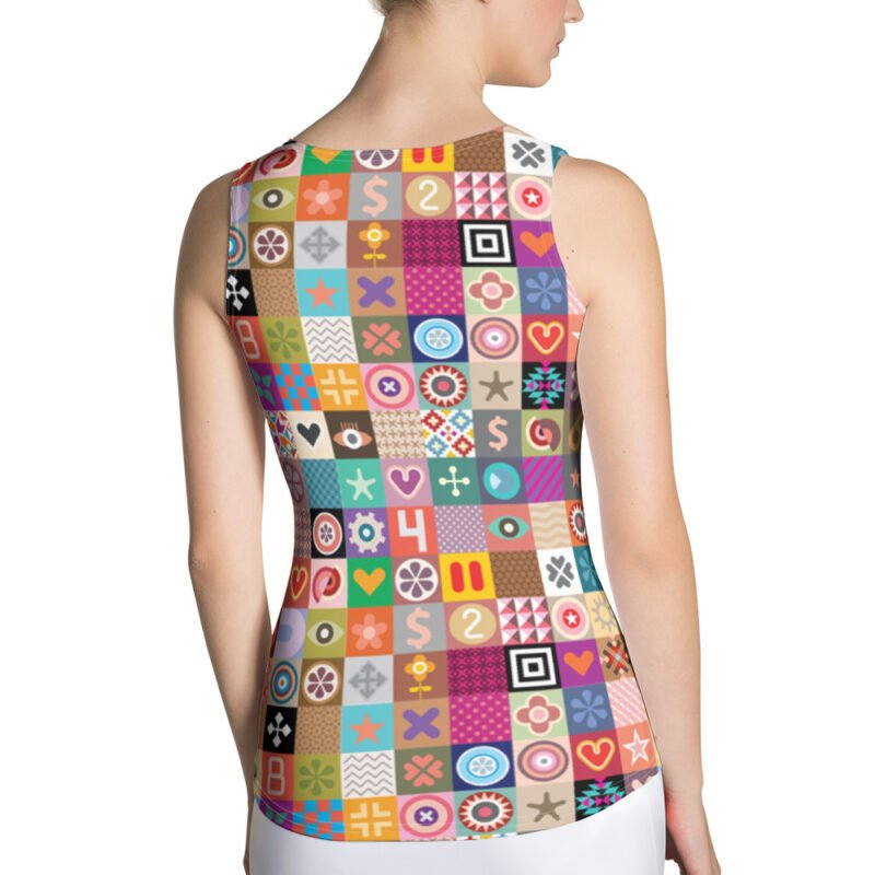 Colorful Motifs Maximalism Tank Top for Women 2