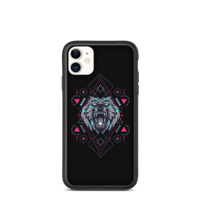 Bear Geometry Design Biodegradable Phone case 2