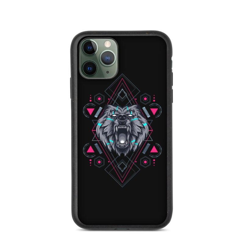 Bear Geometry Design Biodegradable Phone case 3