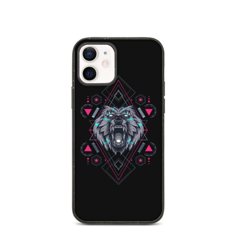 Bear Geometry Design Biodegradable Phone case 5