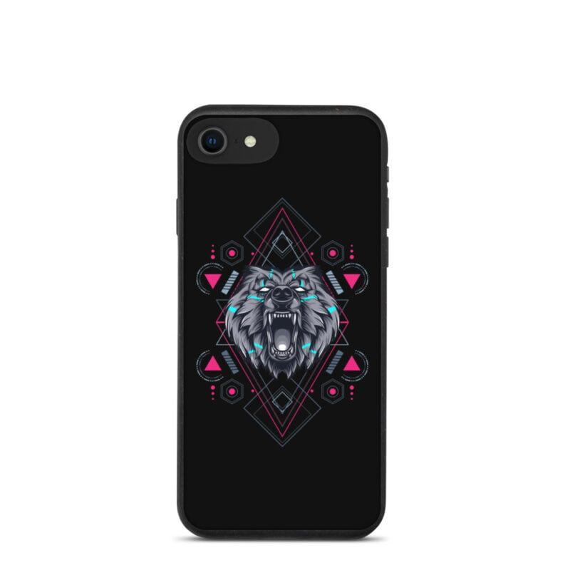 Bear Geometry Design Biodegradable Phone case 1