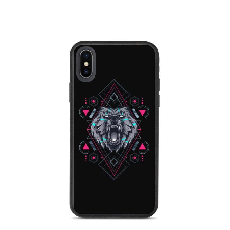 Bear Geometry Design Biodegradable Phone case 10