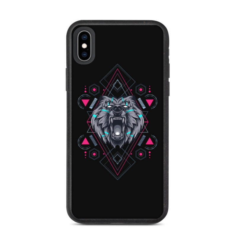 Bear Geometry Design Biodegradable Phone case 12