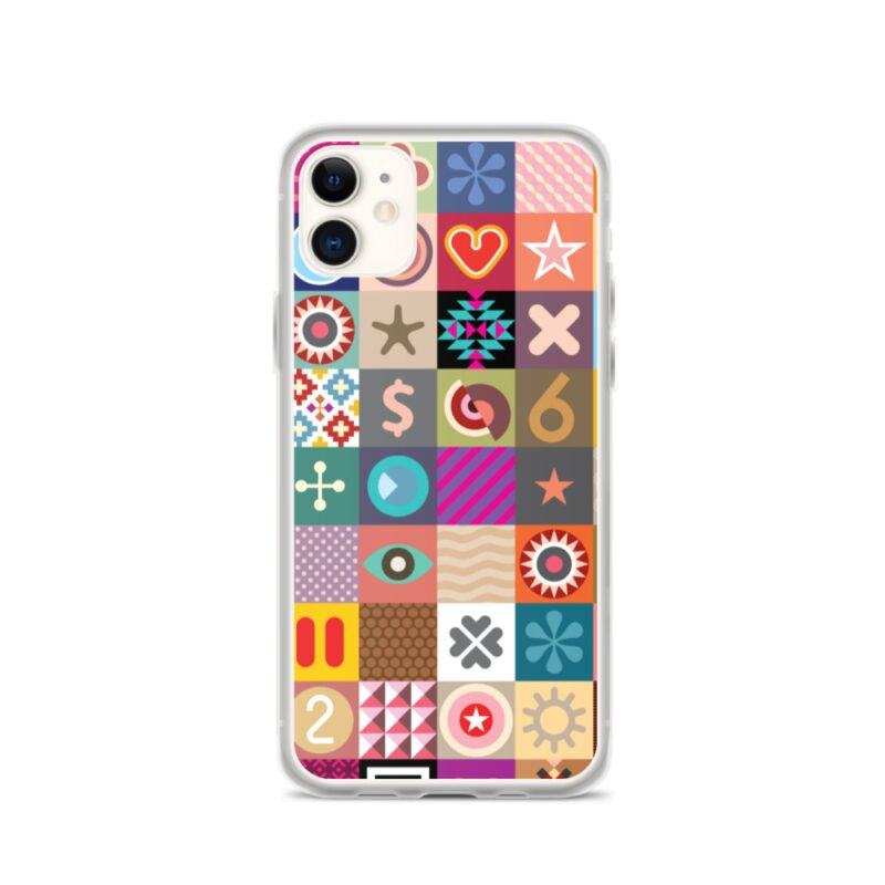 Colorful Motifs Maximalism iPhone Case 2