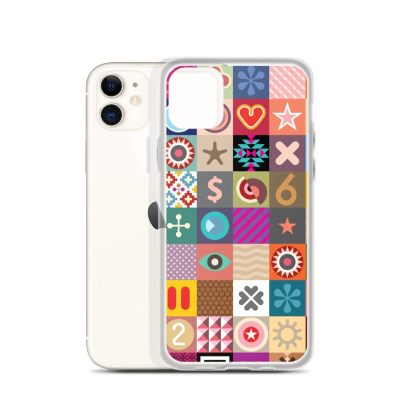 Colorful Motifs Maximalism iPhone Case 1
