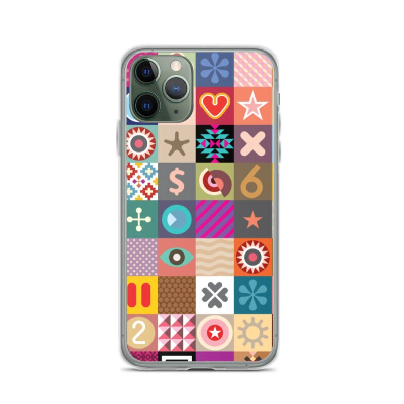 Colorful Motifs Maximalism iPhone Case 3