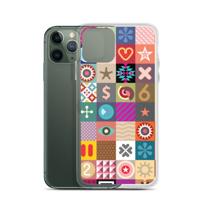 Colorful Motifs Maximalism iPhone Case 4