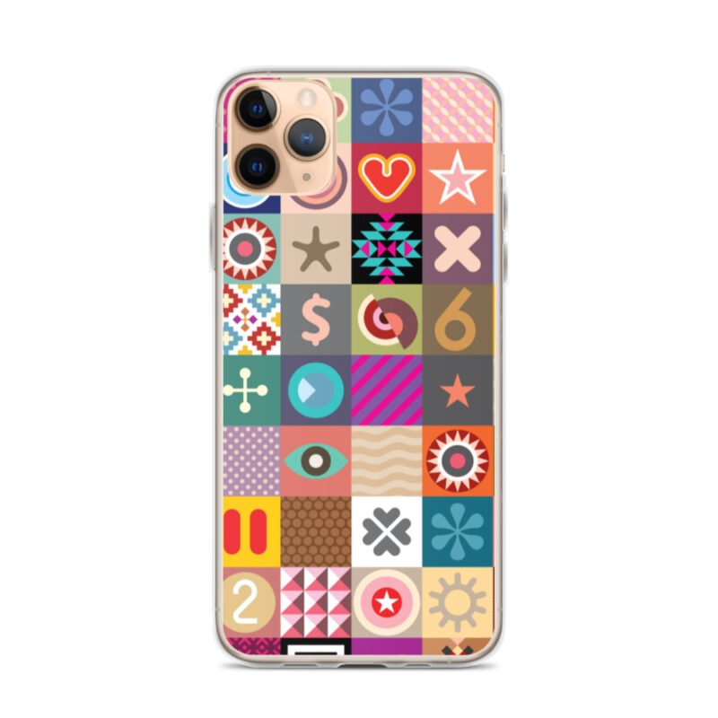 Colorful Motifs Maximalism iPhone Case 5