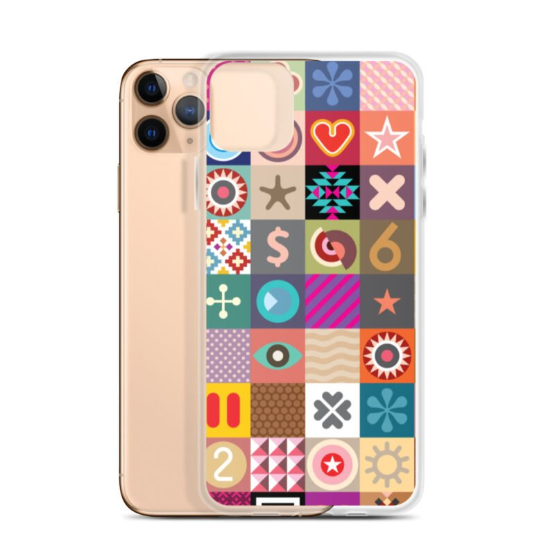 Colorful Motifs Maximalism iPhone Case 6