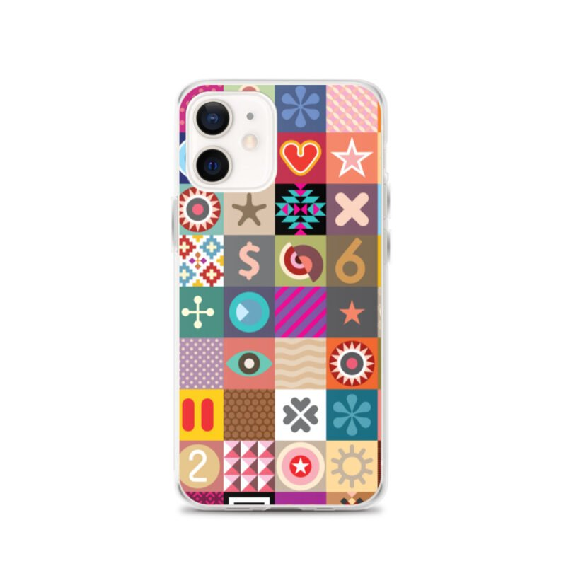 Colorful Motifs Maximalism iPhone Case 7