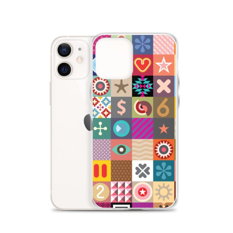 Colorful Motifs Maximalism iPhone Case 8