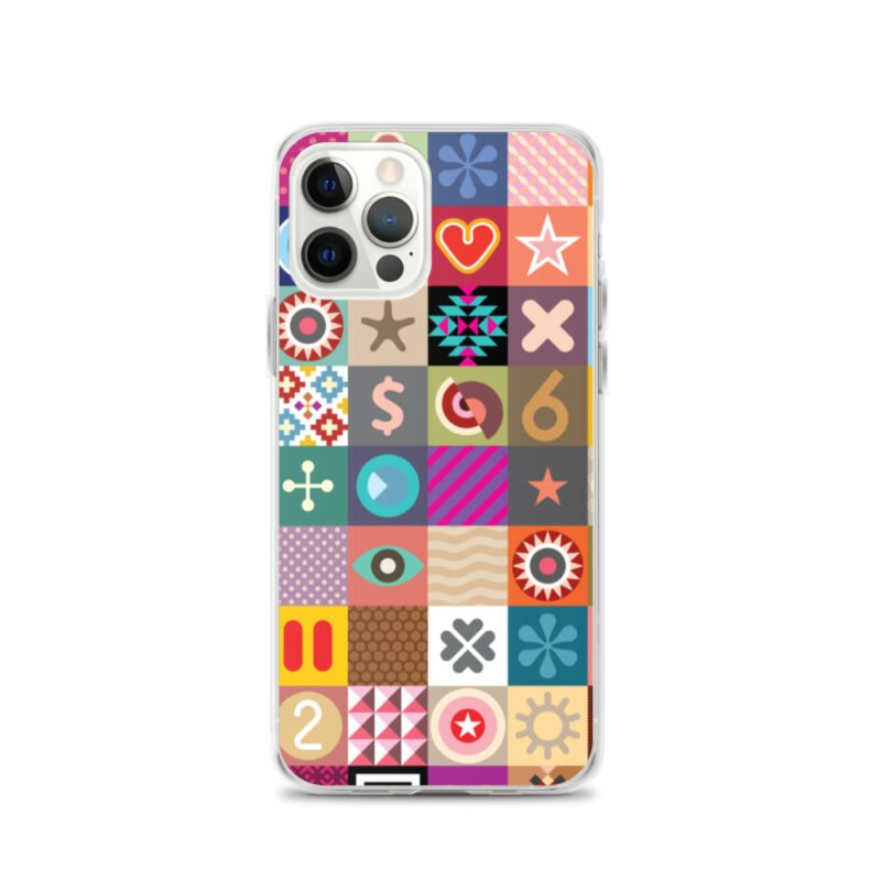 Colorful Motifs Maximalism iPhone Case 11