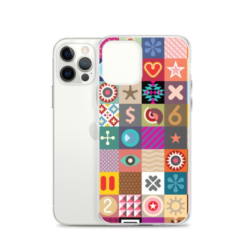 Colorful Motifs Maximalism iPhone Case 12