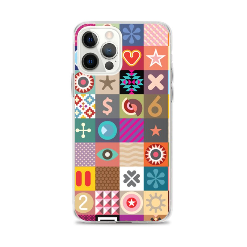 Colorful Motifs Maximalism iPhone Case 13