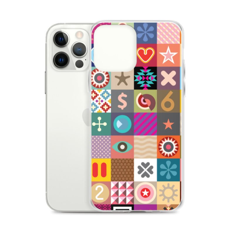 Colorful Motifs Maximalism iPhone Case 14