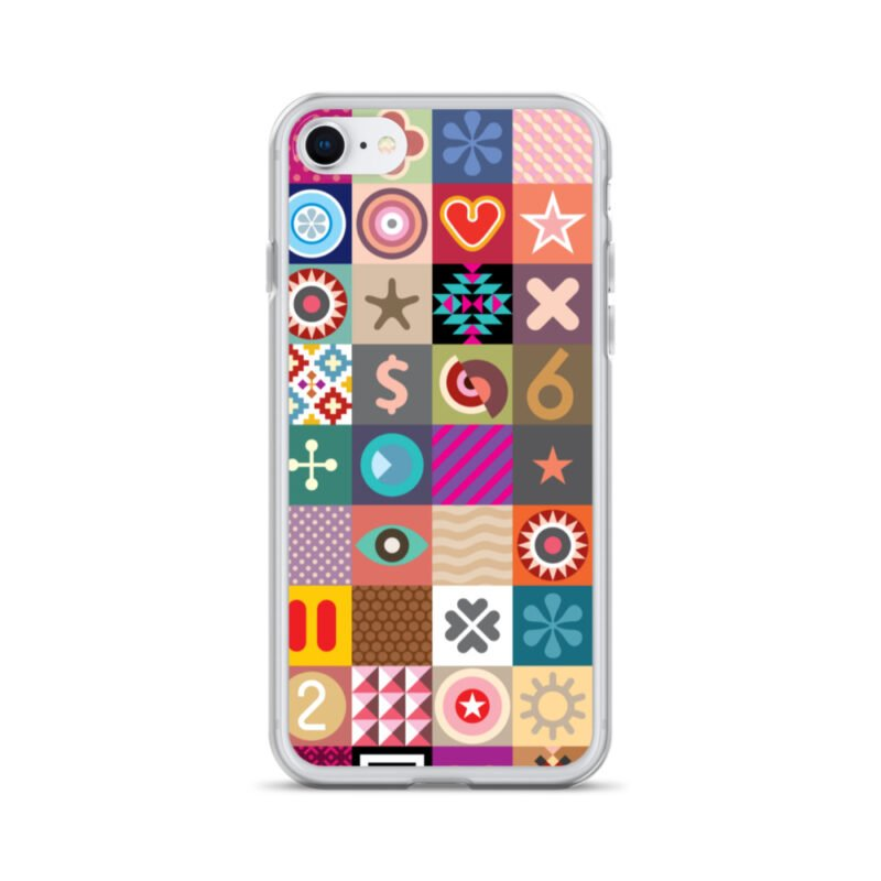 Colorful Motifs Maximalism iPhone Case 15