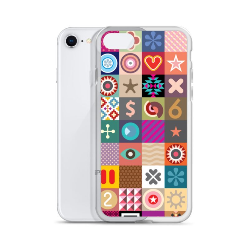 Colorful Motifs Maximalism iPhone Case 16