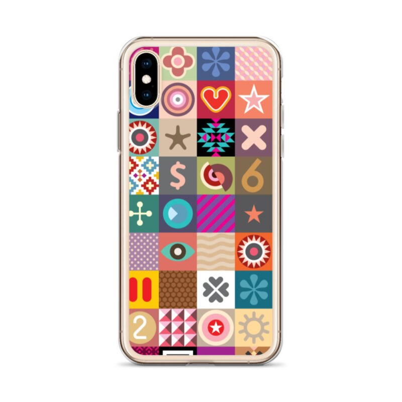 Colorful Motifs Maximalism iPhone Case 19