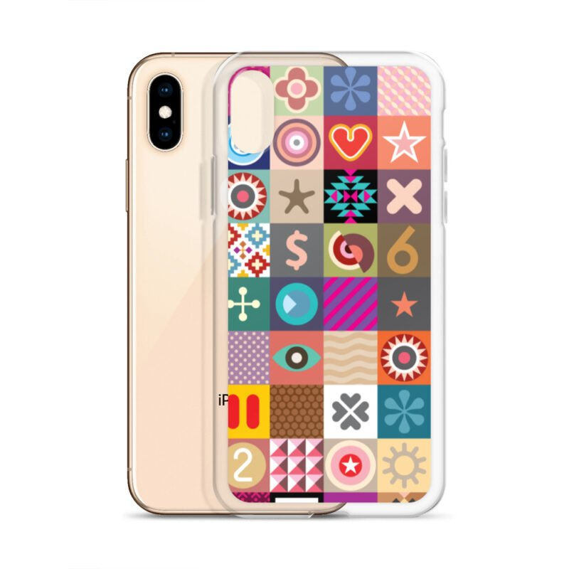 Colorful Motifs Maximalism iPhone Case 20