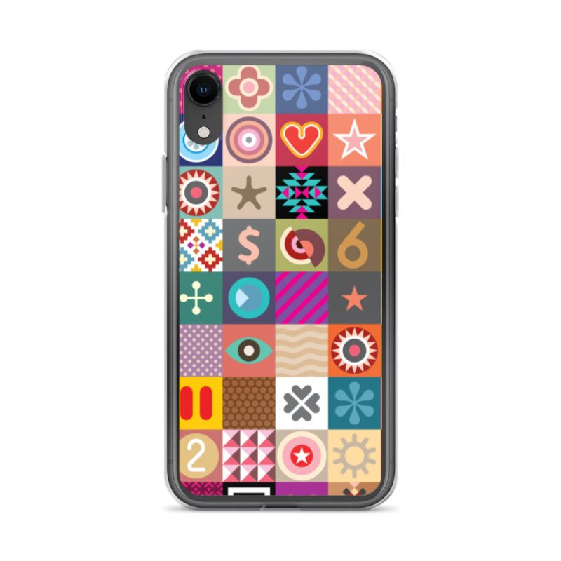 Colorful Motifs Maximalism iPhone Case 21