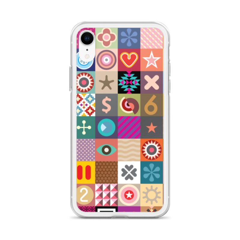 Colorful Motifs Maximalism iPhone Case 23