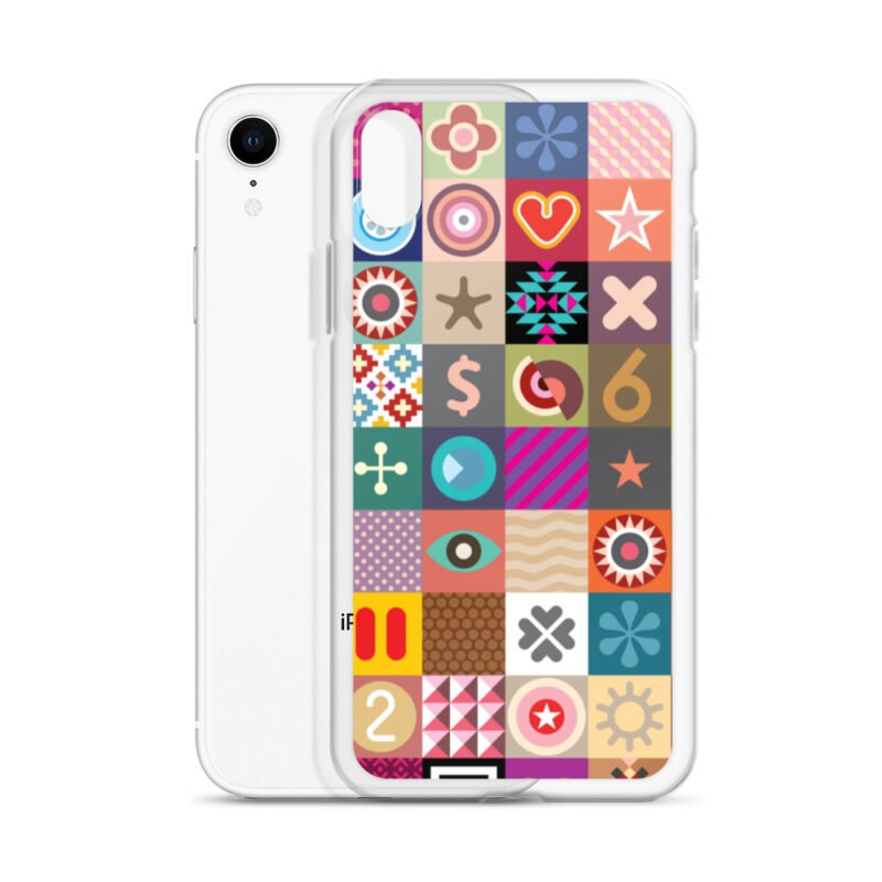 Colorful Motifs Maximalism iPhone Case 24