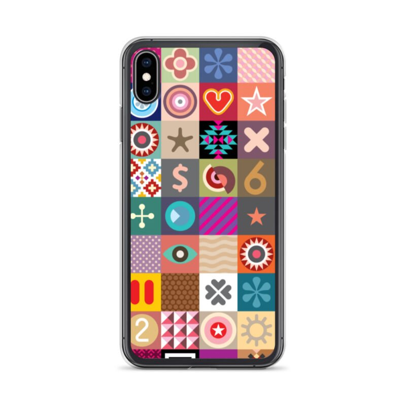 Colorful Motifs Maximalism iPhone Case 25