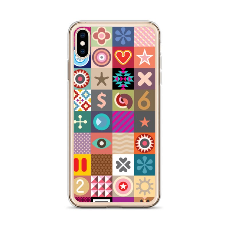 Colorful Motifs Maximalism iPhone Case 27