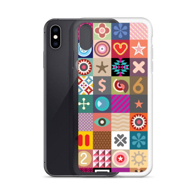 Colorful Motifs Maximalism iPhone Case 26