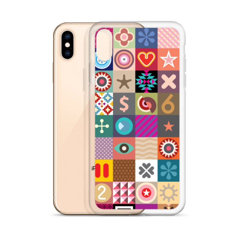 Colorful Motifs Maximalism iPhone Case 28