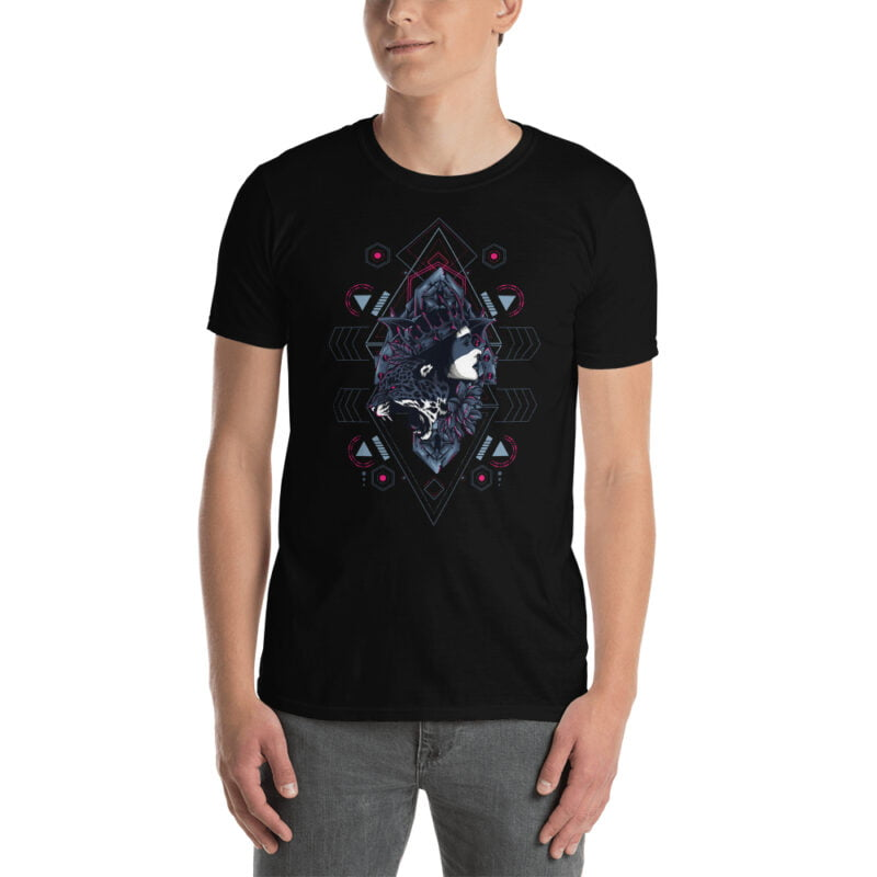 Cheetah Queen and Lotus Sacred Art Unisex T-Shirt 6
