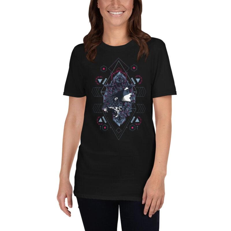 Cheetah Queen and Lotus Sacred Art Unisex T-Shirt 13