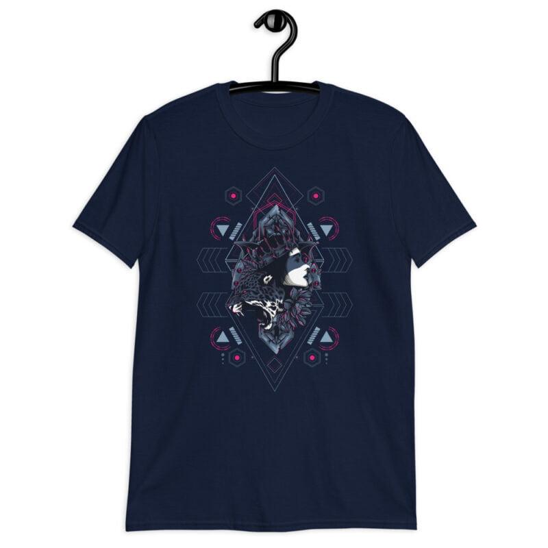 Cheetah Queen and Lotus Sacred Art Unisex T-Shirt 3