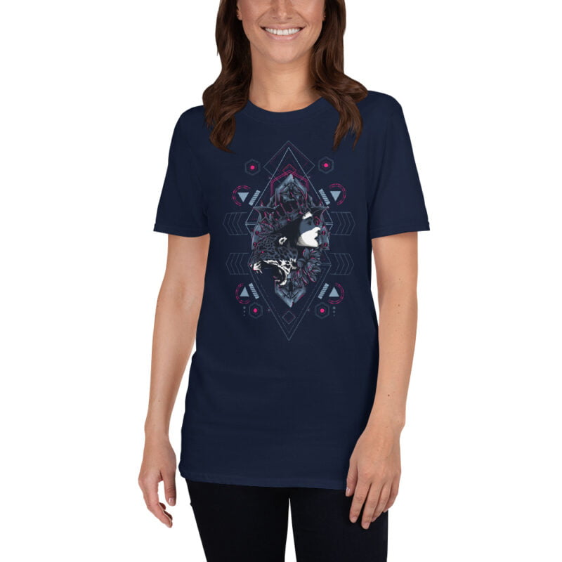 Cheetah Queen and Lotus Sacred Art Unisex T-Shirt 11