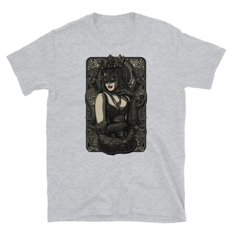 The Queen Tattoo Ink Short-Sleeve Unisex T-Shirt grey